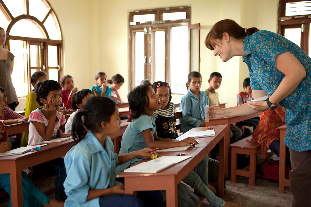Teaching at the Kopila Valley Primary School, Surkhet, Nepal