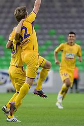 Robert Beric celebrate scoring a goal during the football match between NK Olimpija and NK Maribor, played in the 4th Round of Prva liga football league 2010 - 2011, on September 29, 2010, SRC Stozice, Ljubljana, Slovenia. (Photo by Matic Klansek Velej / Sportida)