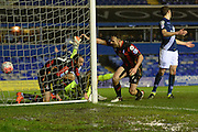 Bournemouth striker Glenn Murray celebrates, goal during the The FA Cup third round match between Birmingham City and Bournemouth at St Andrews, Birmingham, England on 9 January 2016. Photo by Alan Franklin.
