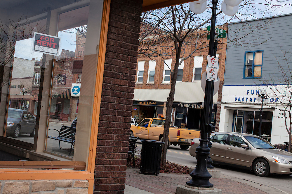 A view of downtown on Friday, March 23, 2012 in Webster City, IA.
