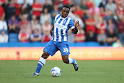 Kazenga LuaLua of Brighton & Hove Albion during the Sky Bet Championship match between Brighton and Hove Albion and Nottingham Forest at The American Express Community Stadium, Brighton and Hove, England on 7 August 2015. Photo by Phil Duncan.