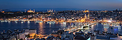 Istanbul sunset view from the Galata Tower<br />