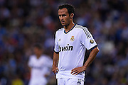 BARCELONA, SPAIN - MAY 11: Ricardo Silveira Carvalho of Real Madrid CF looks on during the Liga BBVA between RCD Espanyol and Real Madrid CF at the Cornella-El Prat Stadium on May 11, 2013 in Barcelona, Spain. (Photo by Aitor Alcalde Colomer).