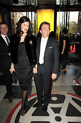 WALID & CHRISTINA JUFFALI at the opening of the Victoria & Albert Museum's latest exhibition 'Grace Kelly: Style Icon' opened by His Serene Highness Prince Albert of Monaco at the V&A on 15th April 2010.