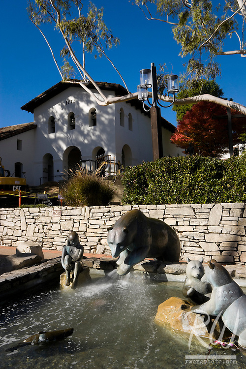Bear Statues Water Fountain, Mission San Luis Obispo de Tolosa, California