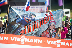 Austrian fans celebrates after Day 1 of FIS Ski Jumping World Cup Ladies Ljubno 2020, on February 22th, 2020 in Ljubno ob Savinji, Ljubno ob Savinji, Slovenia. Photo by Matic Ritonja / Sportida