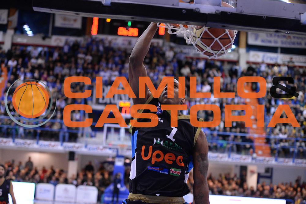 DESCRIZIONE : Brindisi  Lega A 2014-15 Enel Brindisi Upea Capo d'Orlando<br /> GIOCATORE : Archie Dominique<br /> CATEGORIA : Schiacciata<br /> SQUADRA : Upea Capo d'Orlando<br /> EVENTO : Campionato Lega A 2014-2015<br /> GARA :Enel Brindisi Upea Capo d'Orlando<br /> DATA : 21/12/2014<br /> SPORT : Pallacanestro<br /> AUTORE : Agenzia Ciamillo-Castoria/M.Longo<br /> Galleria : Lega Basket A 2014-2015<br /> Fotonotizia : <br /> Predefinita :