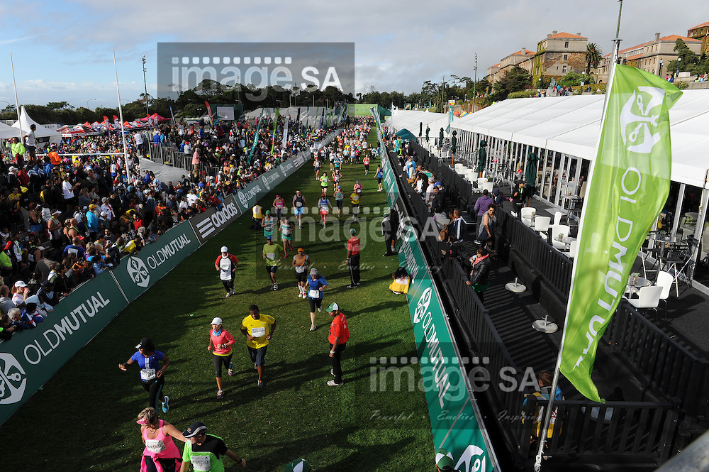 CAPE TOWN, South Africa - Saturday 30 March 2013, The finish line of the half marathon of the Old Mutual Two Oceans Marathon. .Photo by Roger Sedres/ ImageSA