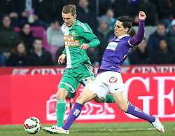 08.03.2015, Generali Arena, Wien, AUT, 1. FBL, FK Austria Wien vs SK Rapid Wien, 24. Runde, im Bild Mario Pavelic (SK Rapid Wien) und David De Paula (FK Austria Wien) // during Austrian Football Bundesliga Match, 24th Round, between FK Austria Vienna and SK Rapid Wien at the Generali Arena, Vienna, Austria on 2015/03/08. EXPA Pictures © 2015, PhotoCredit: EXPA/ Thomas Haumer