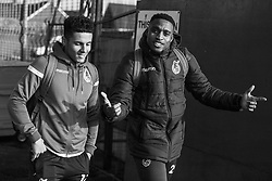 Tyler Smith of Bristol Rovers and Victor Adeboyejo of Bristol Rovers arrives at Memorial Stadium prior to kick off - Mandatory by-line: Ryan Hiscott/JMP - 01/12/2019 - FOOTBALL - Memorial Stadium - Bristol, England - Bristol Rovers v Plymouth Argyle - Emirates FA Cup second round