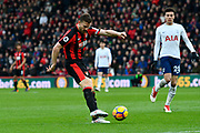 Simon Francis (2) of AFC Bournemouth shoots at goal during the Premier League match between Bournemouth and Tottenham Hotspur at the Vitality Stadium, Bournemouth, England on 11 March 2018. Picture by Graham Hunt.