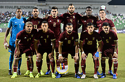 DOHA, Nov. 21, 2018  Venezuela's national team players pose for a team photo prior to the international friendly soccer match between Iran and Venezuela at Al Ahli Stadium in Doha, capital of Qatar, Nov. 20, 2018. The match ended with a 1-1 draw. (Credit Image: © Nikku/Xinhua via ZUMA Wire)