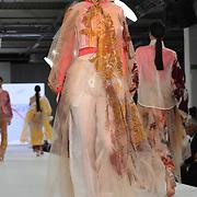 Designer Louise Clark the Best of Graduate Fashion Week showcases at the Graduate Fashion Week 2018, June 6 2018 at Truman Brewery, London, UK.