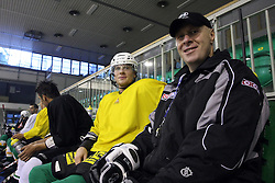 Ales Music and Assistant coach Bojan Zajc at second ice hockey practice of HDD Tilia Olimpija on ice in the new season 2008/2009, on August 19, 2008 in Hala Tivoli, Ljubljana, Slovenia. (Photo by Vid Ponikvar / Sportal Images)