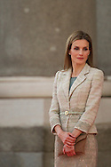 Queen Letizia of Spain Receives Armed Forces and Guardia Civil Members at The Royal Palace on June 25, 2014 in Madrid, Spain