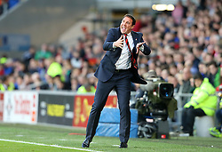 Cardiff City Manager, Malky Mackay shouts instructions - Photo mandatory by-line: Gary Day/JMP - Tel: Mobile: 07966 386802 30/11/2013 - SPORT - Football - Cardiff - Cardiff City Stadium - Cardiff City v Arsenal - Barclays Premier League