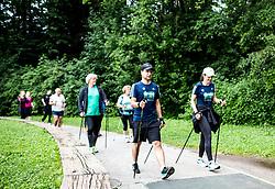 Ales Hostnik, Simona Markovic, Poletni tek, Priprave na Ljubljanski maraton 2018, on June 23, 2018 in Ljubljana, Slovenia. Photo by Vid Ponikvar / Sportida