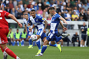 Bristol Rovers midfielder Ollie Clarke shoots at goal during the EFL Sky Bet League 1 match between Bristol Rovers and Accrington Stanley at the Memorial Stadium, Bristol, England on 7 September 2019.