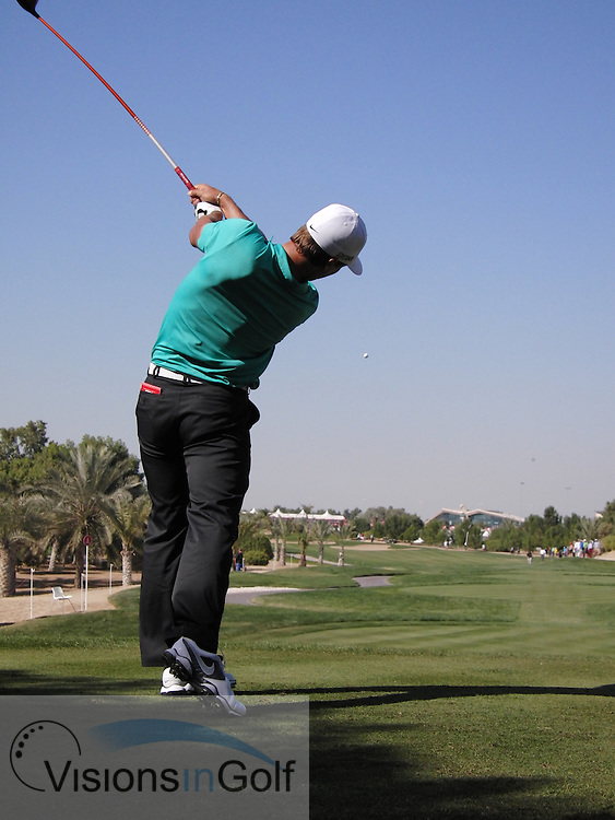 Thorbjorn OLESEN high speed swing sequence down the line January 2013<br /> Picture Credit:  Mark Newcombe / www.visionsingolf.com