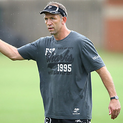 DURBAN, SOUTH AFRICA - MARCH 23: Brendan Venter during the Cell C Sharks training session at Growthpoint Kings Park on March 23, 2015 in Durban, South Africa. (Photo by Steve Haag/Gallo Images)
