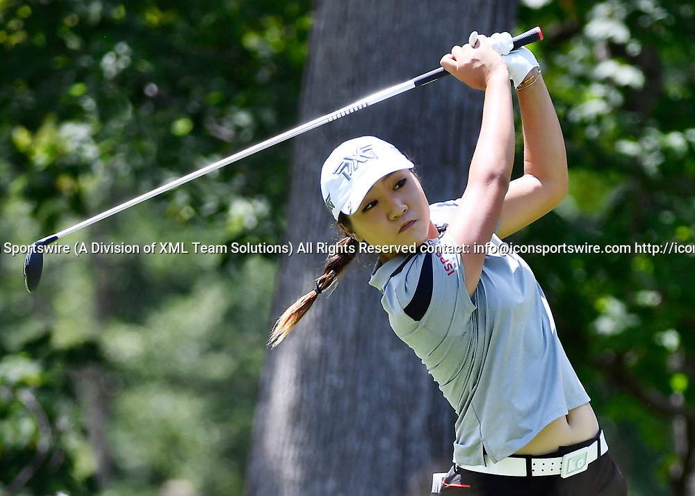 OLYMPIA FIELDS, IL - JULY 01: Lydia Ko of New Zealand plays the ball from the fifth tee during the third round of the 2017 KMPG PGA Championship at Olympia Fields on July 1, 2017 in Olympia Fields, Illinois. (Photo by Quinn Harris/Icon Sportswire)