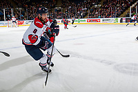 KELOWNA, CANADA - NOVEMBER 17: Giorgio Estephan #9 of the Lethbridge Hurricanes skates against the Kelowna Rockets on November 17, 2017 at Prospera Place in Kelowna, British Columbia, Canada.  (Photo by Marissa Baecker/Shoot the Breeze)  *** Local Caption ***