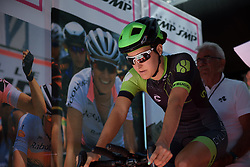 Dani King in the start house on Stage 5 of the Giro Rosa - a 12.7 km individual time trial, starting and finishing in Sant'Elpido A Mare on July 4, 2017, in Fermo, Italy. (Photo by Sean Robinson/Velofocus.com)