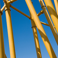 Roller coaster structure support, close up