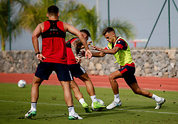 Jamie Paterson of Bristol City takes on Josh Brownhill of Bristol City - Mandatory by-line: Matt McNulty/JMP - 19/07/2017 - FOOTBALL - Tenerife Top Training Centre - Costa Adeje, Tenerife - Pre-Season Training