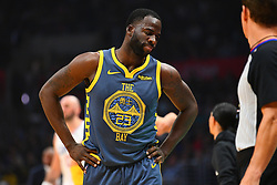 November 12, 2018 - Los Angeles, CA, U.S. - LOS ANGELES, CA - NOVEMBER 12: Golden State Warriors Forward Draymond Green (23) reacts to a call during a NBA game between the Golden State Warriors and the Los Angeles Clippers on November 12, 2018 at STAPLES Center in Los Angeles, CA. (Photo by Brian Rothmuller/Icon Sportswire) (Credit Image: © Brian Rothmuller/Icon SMI via ZUMA Press)