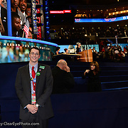 Sean Doyle on the floor during the Roll Call at the 2012 NH Democratic Convention