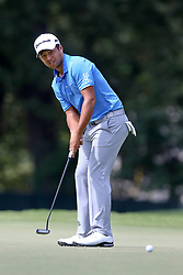 September 24, 2017 - Atlanta, Georgia, United States - Xander Schauffele putts the first green during the final round of the TOUR Championship at the East Lake Club. (Credit Image: © Debby Wong via ZUMA Wire)