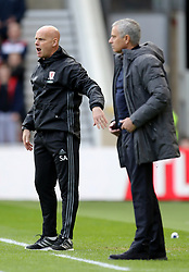 Middlesbrough caretaker manager Steve Agnew and Manchester United manager Jose Mourinho