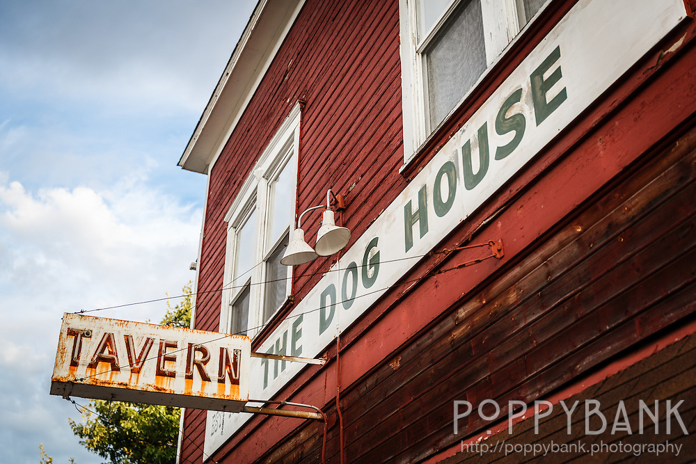 The Dog House tavern is a landmark along the main street in the seaside town of Langley, Washington.