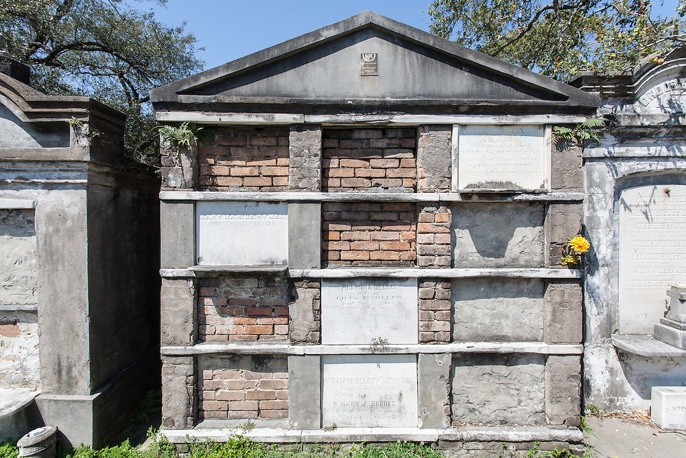 Above ground tombs in the Lafayette Cemetery No. 1, Garden District, New Orleans, Louisiana