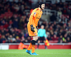 November 29, 2017 - London, England, United Kingdom - Arsenal's Petr Cech in action..during Premier League match between Arsenal and Huddersfield Town at Emirates Stadium, London,  England on 29 Nov   2017. (Credit Image: © Kieran Galvin/NurPhoto via ZUMA Press)