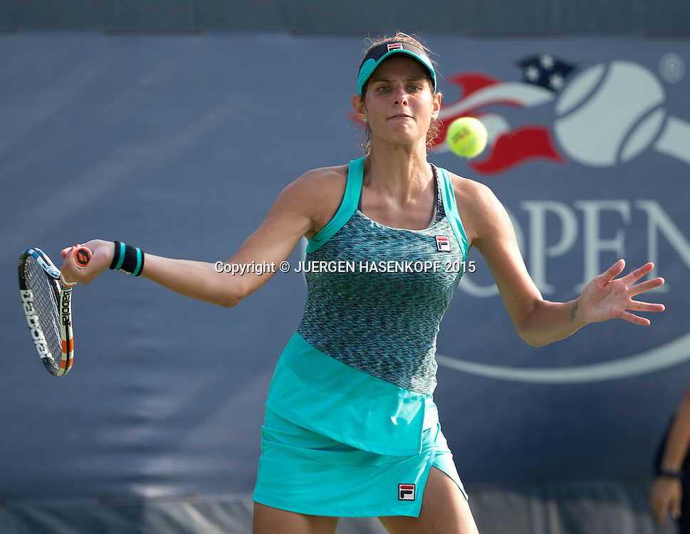 Julia Goerges (GER),Tattoo,<br /> <br /> Tennis - US Open 2015 - Grand Slam ITF / ATP / WTA -  Flushing Meadows - New York - New York - USA  - 1 September 2015.