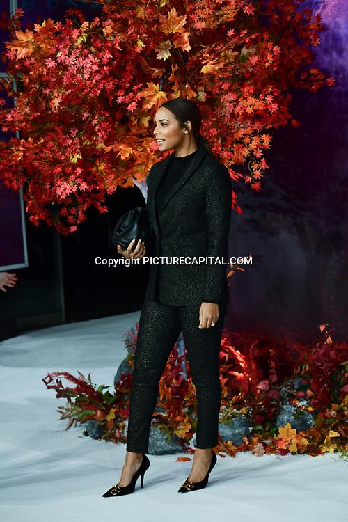 Rochelle Humes attend European Premiere of Frozen 2 on 17 November 2019, BFI Southbank, London, UK.