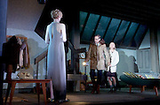The Red Barn <br /> by David Hare <br /> based on the novel La Main by Georges Simenon <br /> at the Lyttelton Theatre, London, Great Britain <br /> Press photocall <br /> 14th October 2016 <br /> directed by Robert Icke <br /> Designed by Bunny Christie <br /> <br /> Mark Strong as Donald Dodd<br /> <br /> Hope Davis as Ingrid Dodd<br /> <br /> Elizabeth Debicki as Mona Saunders <br /> <br /> <br /> Photograph by Elliott Franks <br /> Image licensed to Elliott Franks Photography Services