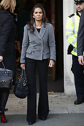 © Licensed to London News Pictures. 05/12/2016. London, UK. Campaigner Gina Miller arrives at the Supreme Court  in Westminster, London for first day of a  Supreme Court hearing to appeal against a November 3 High Court ruling that Article 50 cannot be triggered without a vote in Parliament. Photo credit: Peter Macdiarmid/LNP