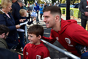 Chris Mepham (33) of AFC Bournemouth meets the fans as he arrives ahead of the Premier League match between Bournemouth and Norwich City at the Vitality Stadium, Bournemouth, England on 19 October 2019.