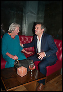 LYNN BARBER; MARK HIX, Lynn Barber celebrates her 70th birthday and the publiction of ' A Curious Career. Hixter, 9a Devonshire Sq. London. 8 May 2014.