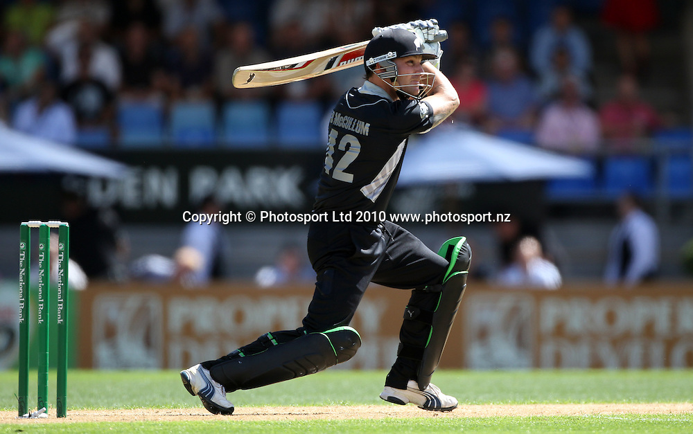 Brendon McCullum batting during his innings of 61.<br />