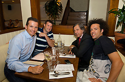 NOTTINGHAM, ENGLAND - Saturday, June 13, 2009: Richard Krajicek (NED), Barry Cowan (GBR), Ilie Nastase (ROU) and Younes El Aynaoui (MAR) during the players' party at the Living Room on day two of the Tradition Nottingham Masters tennis event. (Pic by David Rawcliffe/Propaganda)