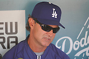 LOS ANGELES - MAY 30:  Manager Don Mattingly #8 of the Los Angeles Dodgers talks to the media during batting practice at the game between the Colorado Rockies and the Los Angeles Dodgers on Monday, May 30, 2011 at Dodger Stadium in Los Angeles, California. The Dodgers won the game 7-1. (Photo by Paul Spinelli/MLB Photos via Getty Images) *** Local Caption *** Don Mattingly
