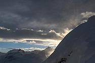 Snowdrift on a heavy winter storm, Parc Ela, Grisons, Switzerland