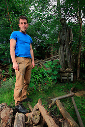 UNITED KINGDOM LONDON 14JUN07 - Portrait of environmental artist Ben Wilson in his garden in Muswell Hill, north London...jre/Photo by Jiri Rezac..© Jiri Rezac 2007..Contact: +44 (0) 7050 110 417.Mobile:  +44 (0) 7801 337 683.Office:  +44 (0) 20 8968 9635..Email:   jiri@jirirezac.com.Web:    www.jirirezac.com..© All images Jiri Rezac 2007 - All rights reserved.