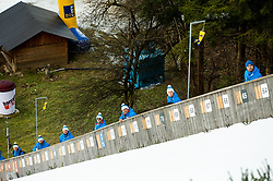 Referees during Team Competition at Day 2 of World Cup Ski Jumping Ladies Ljubno 2019, on February 9, 2019 in Ljubno ob Savinji, Slovenia. Photo by Matic Ritonja / Sportida