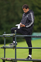 CARDIFF, WALES - Friday, September 2, 2016: Wales' manager Chris Coleman during a training session at the Vale Resort ahead of the 2018 FIFA World Cup Qualifying Group D match against Moldova. (Pic by David Rawcliffe/Propaganda)