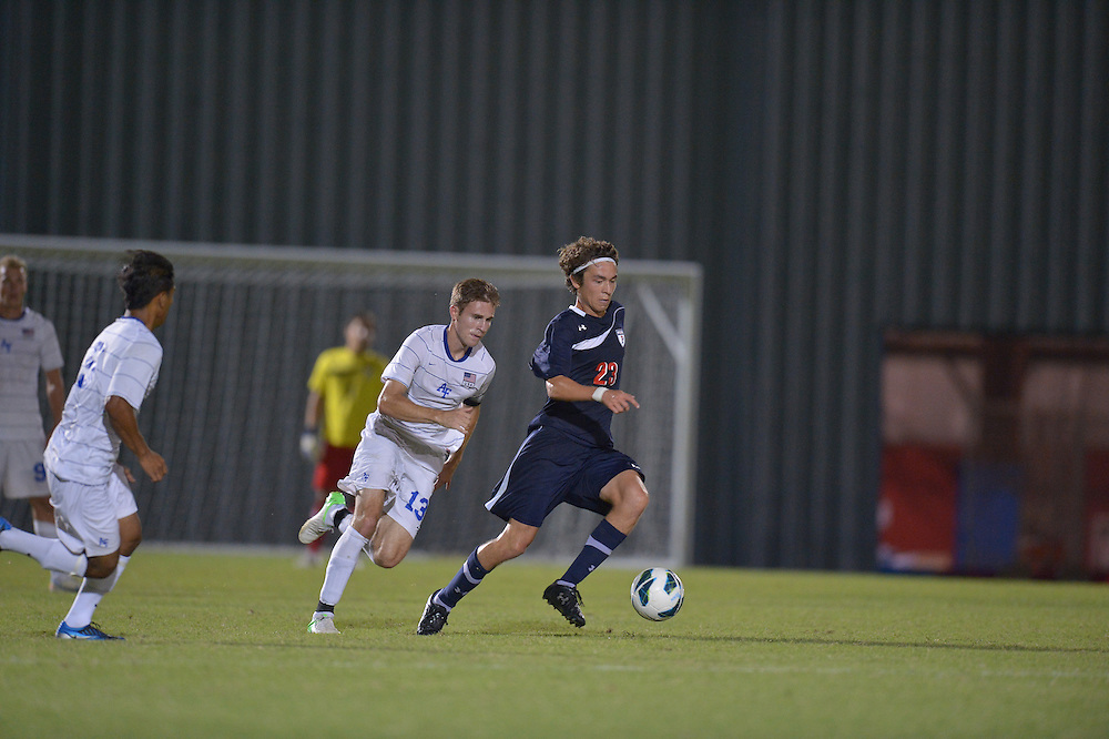 PHILADELPHIA, PA - SEPTEMBER 07:  Penn men's soccer loses 2-1 to Air Force at Penn on September 7, 2012 in Philadelphia, Pennsylvania. (Photo by Drew Hallowell